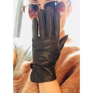Accessories - ✈️ Vintage Leather Flight Gloves w/ Fur Lining